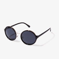 F5027 High Polish Round Sunglasses