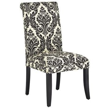 Angela Deluxe Dining Chair - Onyx Damask