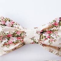 Vintage Bow Bandeau.  DiVa Pin Up  Halter Neck Top. Floral Sunkini Sunbathing. Sexy and cute. Cottage Rose