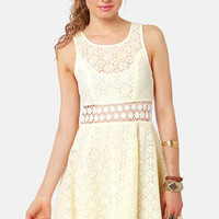 Afternoon in the Park Cream Lace Dress