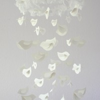 Bird Mobile for Baby Nursery Décor, Wedding Chandelier, Baby Shower Gift, Photographer Prop