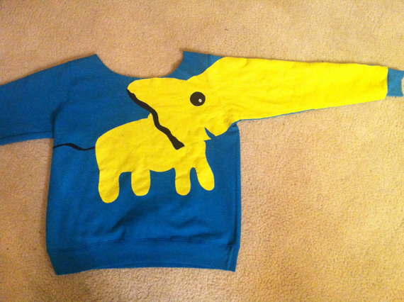 Elephant Sweatshirt by aaamariex on Etsy