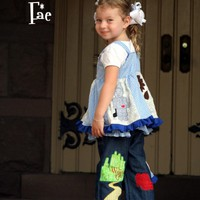 Wizard Of Oz Applique Jumper Jeans Set  | Luulla