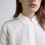 The Silk Blouse White/ Blush