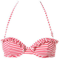 Pink Stripe Bikini Top - Separates - Swimwear  - Apparel - Topshop USA