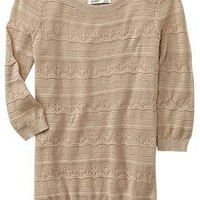 Women's Pointelle Boat-Neck Sweaters | Old Navy