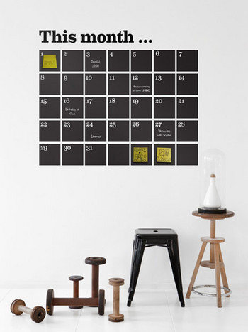 Ferm Living This Month Calendar Wall Sticker - Black at Coggles.com online store