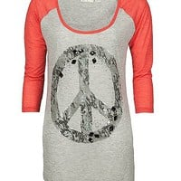 Miss Me Peace Sign T-Shirt - Women&#x27;s Shirts/Tops | Buckle
