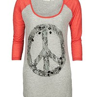 Miss Me Peace Sign T-Shirt - Women's Shirts/Tops | Buckle