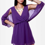 Wide Open Spaces Purple Dress
