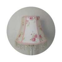 Shabby Chic Garden Rose fabric ~ Lamp Shade & Base by ToileChicBoutique