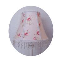 Shabby Chic Garden Rose fabric ~ Lamp Shade by ToileChicBoutique