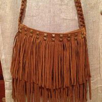 Studded Fringe Purse
