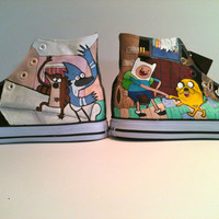 Adventure Time/ Regular Show High Tops