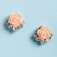Rose is Me Peach Rose Earrings
