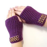 Valentines day gifts, Fingerless Gloves, Purple, Magenta Gloves, Adult fingerless gloves, Wrist warmer, Winter gloves, winter gifts, For her