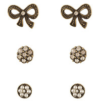 Antique Stud Set | FOREVER21 - 1083555890
