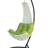 Amazon.com: Birgitte - Balance Curve Porch Swing Chair - Model - DL021WHT: Home &amp; Kitchen