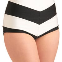 Chevron the Boardwalk Swimsuit Bottom | Mod Retro Vintage Bathing Suits | ModCloth.com