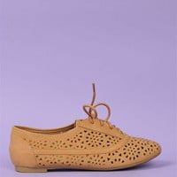 Cut-Out Oxford Flat - Tan