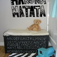 Amazon.com: Wall Vinyl Sticker Decals Art Mural Hakuna Matata Words AL438: Home & Kitchen