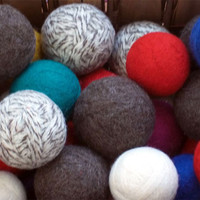Felted Wool Dryer Balls - Set of Twelve - Unscented or Scented