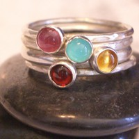 Confetti Stacking Rings by donnaodesigns by donnaOdesigns on Etsy
