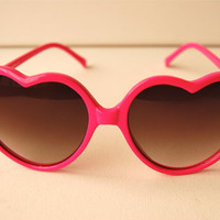 Pink Heart Love Child Sunglasses by Awake87 on Etsy