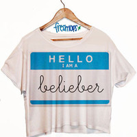 Hello My name is Belieber | fresh-tops.com
