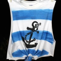 Nautical Anchor Tank by GreatsbyKate on Etsy