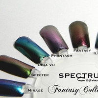 GREEN  Rose Duochrome Nail Polish Top Coat by SpectrumCosmetic