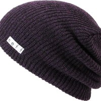 Neff Daily Black &amp; Purple Heather Beanie