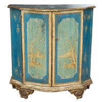 1STDIBS.COM - C. Mariani Antiques, Restoration & Custom - An 18th c. Italian Polychrome & Parcel Gilt Diminutive Credenza