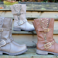 Spiked &amp; Studded Boots B...