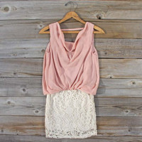 Sea Crystal Dress in Blush, Sweet Women's Bohemian Clothing