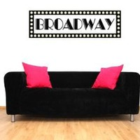 Amazon.com: Broadway Sign New York Vinyl Wall Decal Sticker Graphic By LKS Trading Post: Home & Kitchen