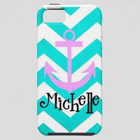 Custom Personalized Chevron iPhone 5 4s 4 Samsung Galaxy s3 Phone Case