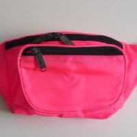 FINE NYLON CLASSIC 3-POCKETS FANNY PACK - NEON PINK