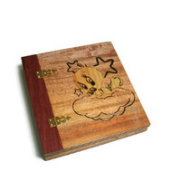 Tweety Wood Scrapbook - Photo Album Inlaid 8x8 Pages