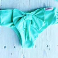 Bow Tie Bikini Bottoms  in Seafoam by CaipirinhaBikini on Etsy
