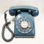 WORKING- Blue Rotary Phone- Rare Color