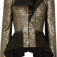 Willow | Leather and metallic-twill jacket | NET-A-PORTER.COM