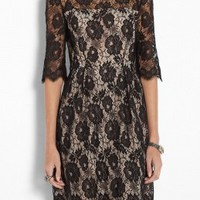 Celia 3/4 Sleeve Lace Dress