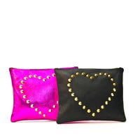 Tough Love Black Mini Studded Clutch by Sarah Baily