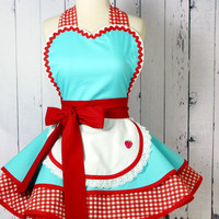 Dots Diner Retro 50s Diner Waitress Apron with a by dotsdiner