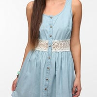 Urban Outfitters - Pins And Needles Crochet-Waist Chambray Dress