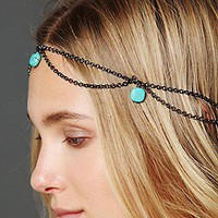 Gypsy Junkies Free People Clothing Boutique > Turquoise Bead Chain Halo