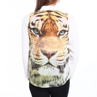 Tiger Eyes Chiffon Blouse
