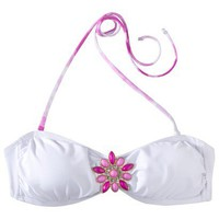 Target : Xhilaration® Junior's Bandeau Swim Top -White : Image Zoom