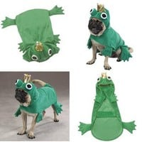 Prince of Frogs Dog Costumes - xSmall Halloween Costume for Dogs - Closeout !!